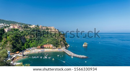 The sea at Vico Equense, Naples, Campania, Italy, in a sunny summer day #1566330934