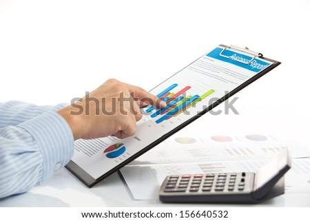business chart showing financial success #156640532