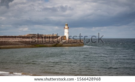 The West Pier and the West Pier Lighthouse in Whitehaven, Cumbria, England, UK #1566428968