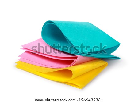 Bright rags for cleaning on an isolated white background #1566432361