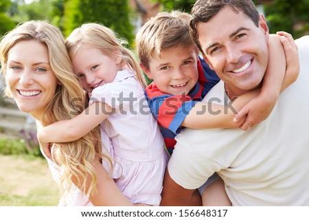 Portrait Of Happy Family In Garden #156648317