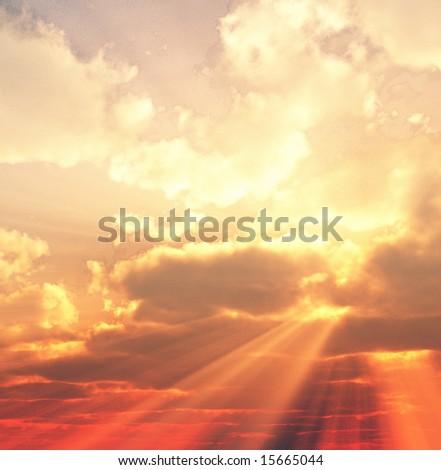 Beautiful sunset #15665044
