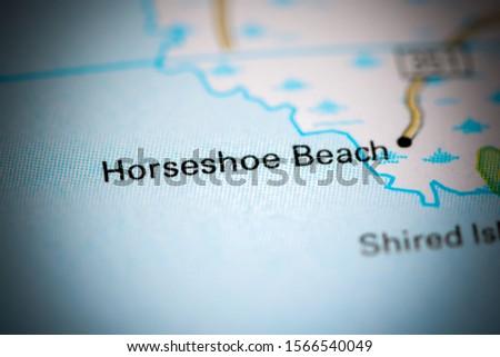 Horseshoe Beach. Florida. USA on a map #1566540049