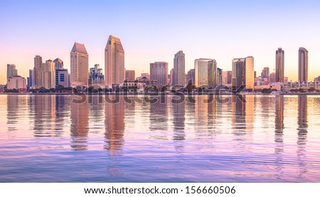 Downtown City of San Diego, California USA