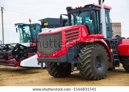 Farm machinery on a farm in the winter #1566831541