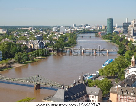 Aerial view of the city of Frankfurt am Main in Germany #156689747