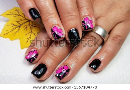 modern nails of painted gel #1567104778