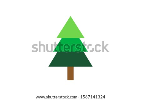 Christmas tree on a white background. #1567141324