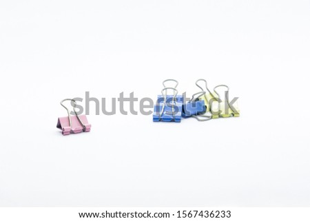 Paper Binder Clip creatively position that can illustrate a story #1567436233