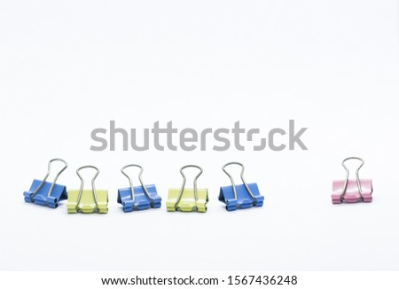 Paper Binder Clip creatively position that can illustrate a story #1567436248