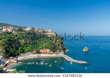 The sea at Vico Equense, Naples, Campania, Italy, in a sunny summer day #1567485136