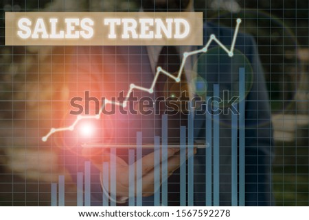 Word writing text Sales Trend. Business concept for Composite data of a company s is annual sales and employment. #1567592278