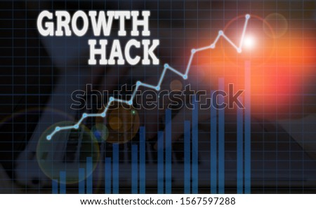 Word writing text Growth Hack. Business concept for generally to acquire as analysisy users or customers as possible. #1567597288