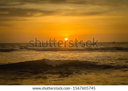The evening sun at Baga beach #1567605745