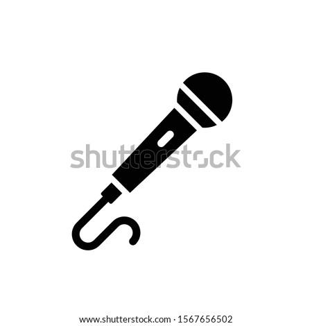 microphone icon vector glyph style design