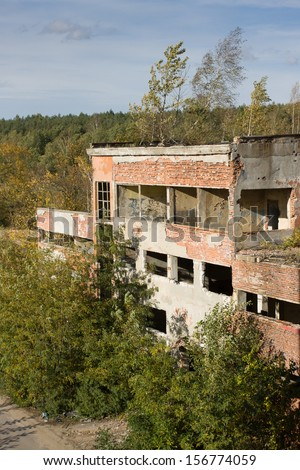 Old abandoned chemical Factory near Tomaszow, Poland #156774059