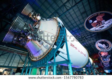 USA. FLORIDA. CAPE CANAVERAL. NOVEMBER 2019: Kennedy Space Center. Apollo / Saturn V Center.  #1567780783