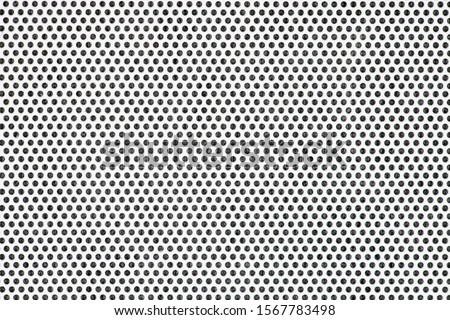 White metal plate with many small circular holes. Royalty-Free Stock Photo #1567783498