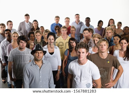 Diverse group of people standing together Royalty-Free Stock Photo #1567881283