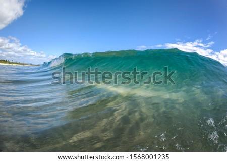 Morning waves Splashing waves at sunrise, Byron Bay, Australia #1568001235