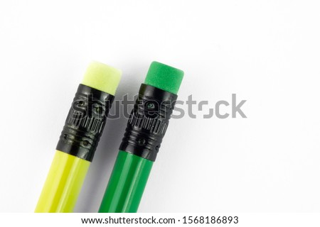 Colour pencils isolated on white background close up Royalty-Free Stock Photo #1568186893