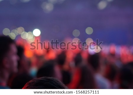 concert background, hand up , blurry background, beautiful bokeh live concert #1568257111