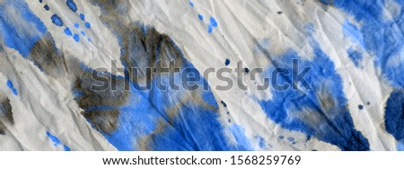 Gray Tie Dye Print. Watercolor Print. Dirty Art Dyed. Aqua Aquarelle Paintbrush. Blue Modern Dyed. Brushed Paper. Gray Oil Brush. Black Graphic Dyed. #1568259769