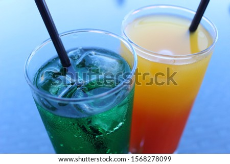 colorful cocktail drink in glass #1568278099