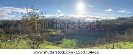 beautiful countryside sunset in the countryside #1568384416