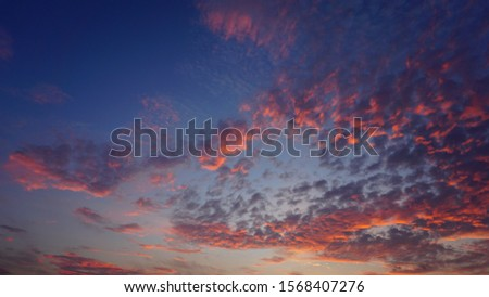 Dark blue sky and pink cloud #1568407276