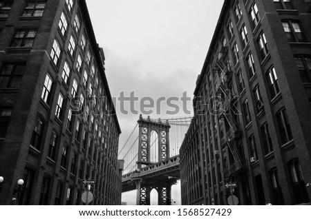 New York City/USA - January 26, 2015: Manhattan Bridge, DUMBO, New York City, USA.