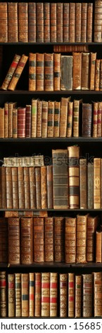 antique books on bookshelf in a library #1568594749