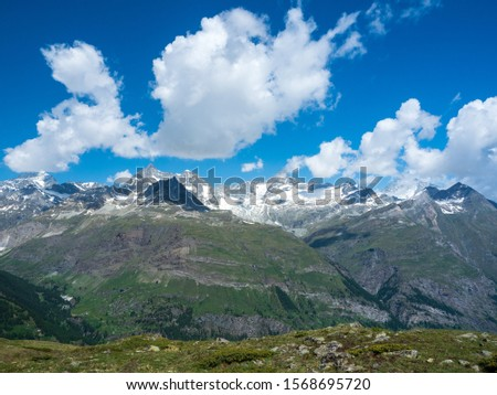 A View of the Alps in Zermatt, Switzerland. #1568695720