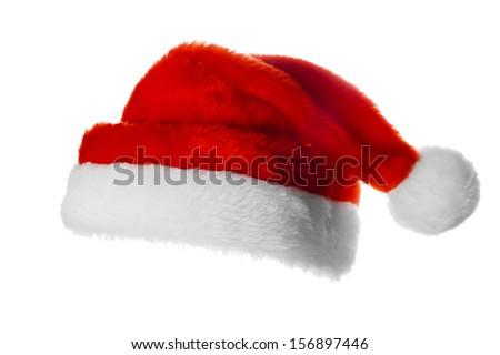 Christmas santa hat,  isolated on white #156897446