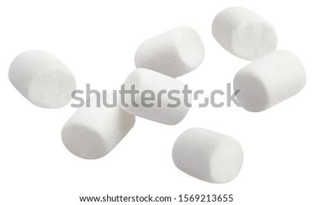 Flying marshmallows, isolated on white background #1569213655