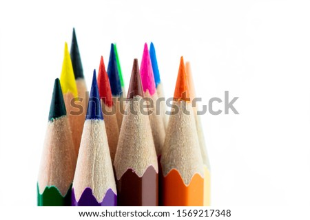 An image of set of color pencils. Royalty-Free Stock Photo #1569217348