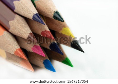 An image of set of color pencils. Royalty-Free Stock Photo #1569217354