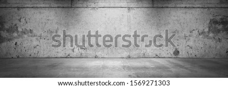 Dark Concrete Wall Background Grunge Product Placement Garage Scene Royalty-Free Stock Photo #1569271303