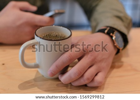 Business meeting with filter coffee #1569299812