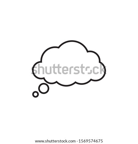Trendy think bubble in flat style. Cloud line art. vector illustration #1569574675