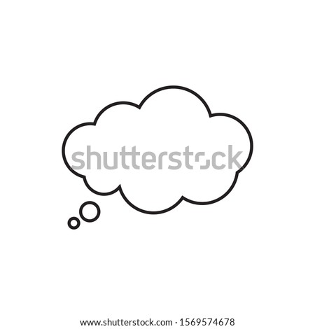 Trendy think bubble in flat style. Cloud line art. vector illustration #1569574678