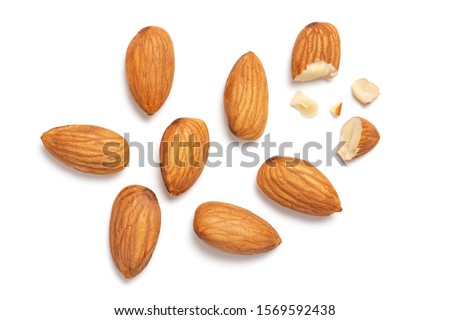 Almonds isolated on white background #1569592438
