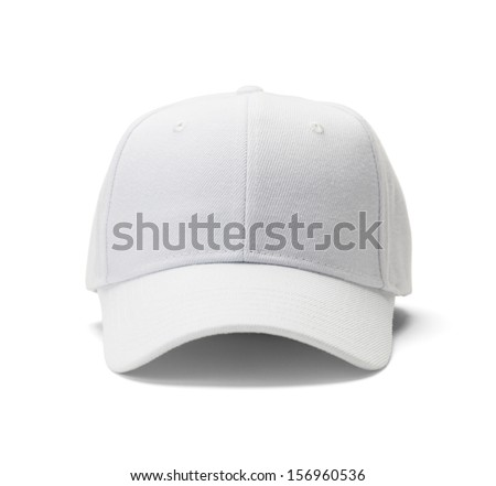 Font View of White Hat Isolated on White Background. Royalty-Free Stock Photo #156960536