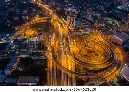 Road traffic in city at thailand . #1569681328