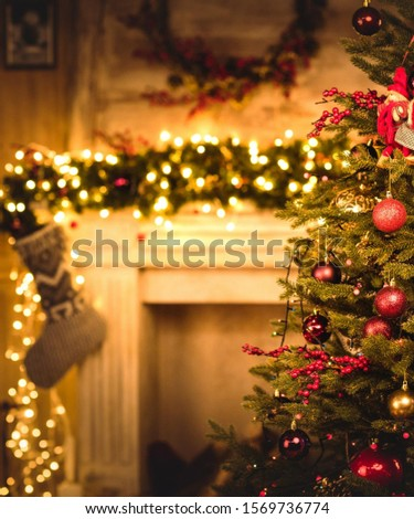 Christmas Image with XMAS tree #1569736774