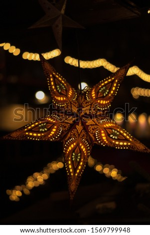 christmas lights. Stars and lights in Edinburgh #1569799948