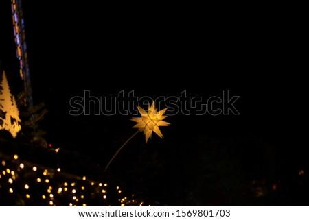 christmas lights. Stars and lights in Edinburgh #1569801703