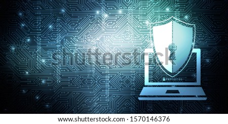 2d rendering laptop with shield  lock      #1570146376