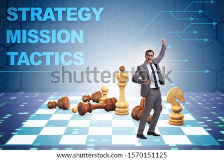 Strategy and tactics concept with businessman #1570151125