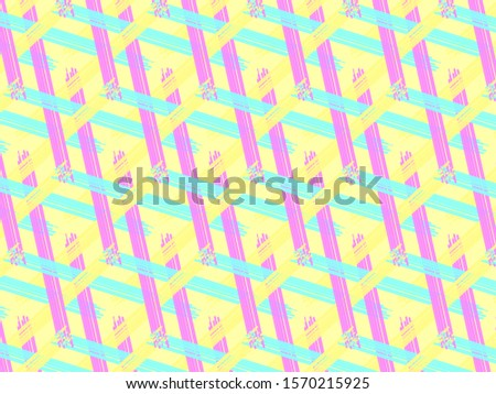 Abstract pattern ornament design in yellow background, sameless pattern digital paint. #1570215925